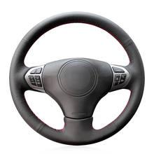 Hand-stitched Black Artificial Leather Anti-slip Car Steering Wheel Cover for Suzuki Grand Vitara 2006 2007 2008 2009-2014 appdee black artificial leather car steering wheel cover for toyota corolla 2004 2006 caldina 2002 2007