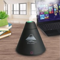 Creative Mini Volcano USB Ultrasonic Humidifier With Colorful Led Light Essential Oil Aroma Diffuser For Office