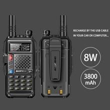 2018 original BAOFENG BF-UVB3 PLUS 8W High Power UHF/VHF Dual Band 10KM Long Range Walkie Talkie 3800mAh Battery Handheld Radio