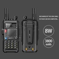 2018 original BAOFENG BF UVB3 PLUS 8W High Power UHF/VHF Dual Band 10KM Long Range Walkie Talkie 3800mAh Battery Handheld Radio