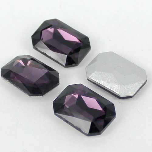 Бесплатная доставка! Смешанные цвета прямоугольник восьмиугольник заостренный Назад Кристалл Стекло Необычные Stone.4x6mm, 8x10mm, 10x14mm, 13x18mm, 18x25mm, 18x27mm