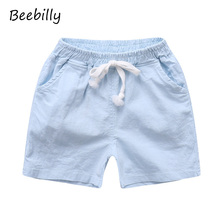 BEEBILLY Boys Shorts Trousers Kids knee Length Shorts Children's Cotton Shorts Baby Boys Brand Beach Shorts Casual Sport Pants