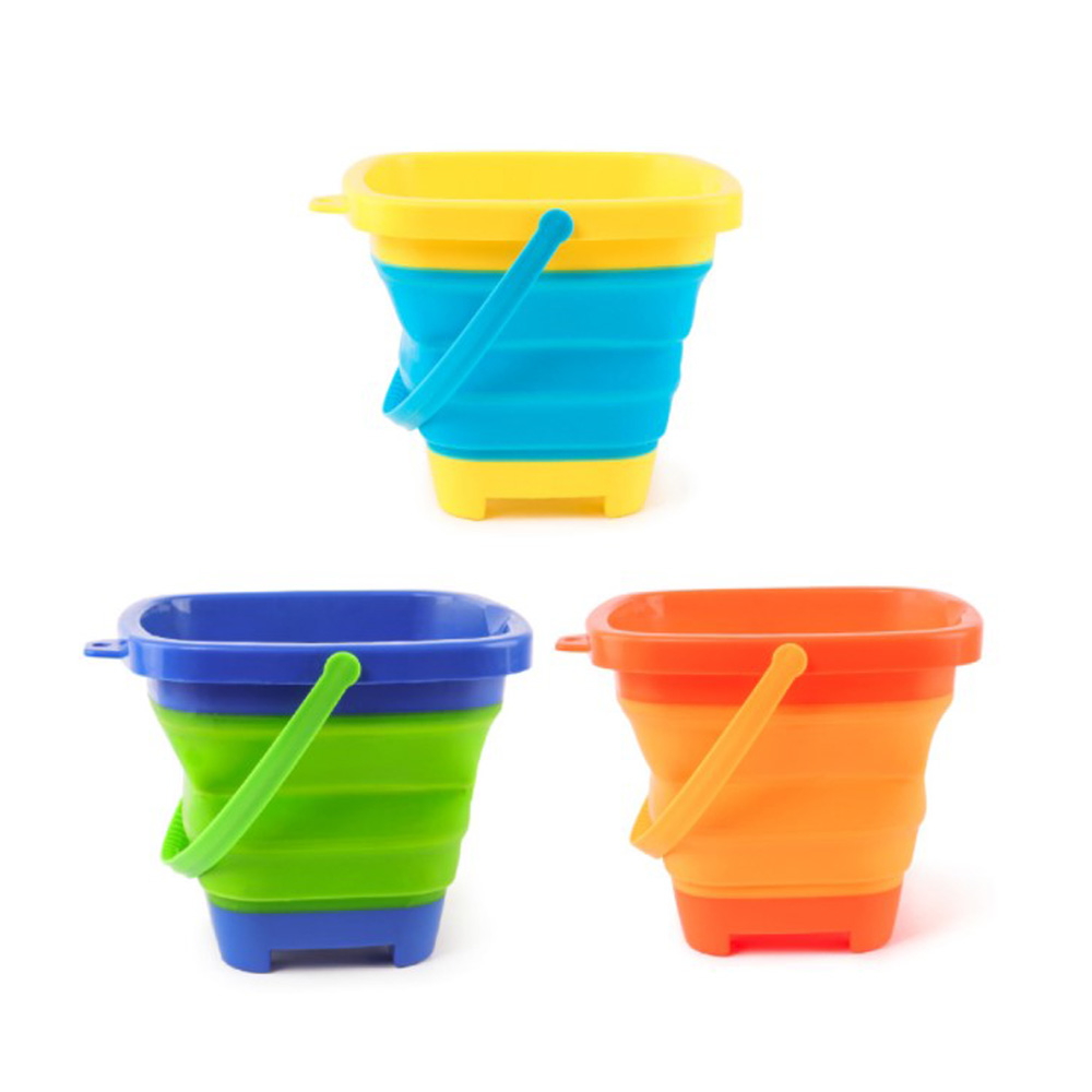 2.5 L Summer Kids Beach Play Sand Plastic Folding Portable Bucket& Sandbox Beach Game Toys Set For Children To Have Fun Factory