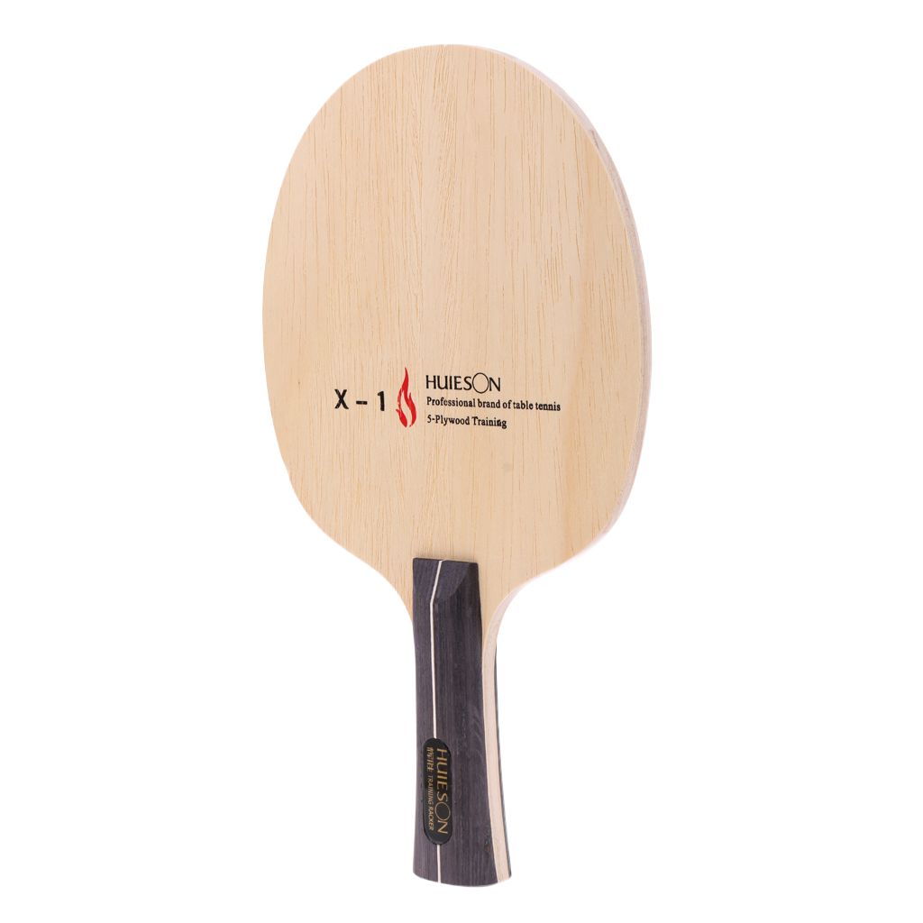 Perfeclan Premium Pure Wood Table Tennis Racket Ping Pong Shakehand / Long Handle  Paddle For Beginners Practice