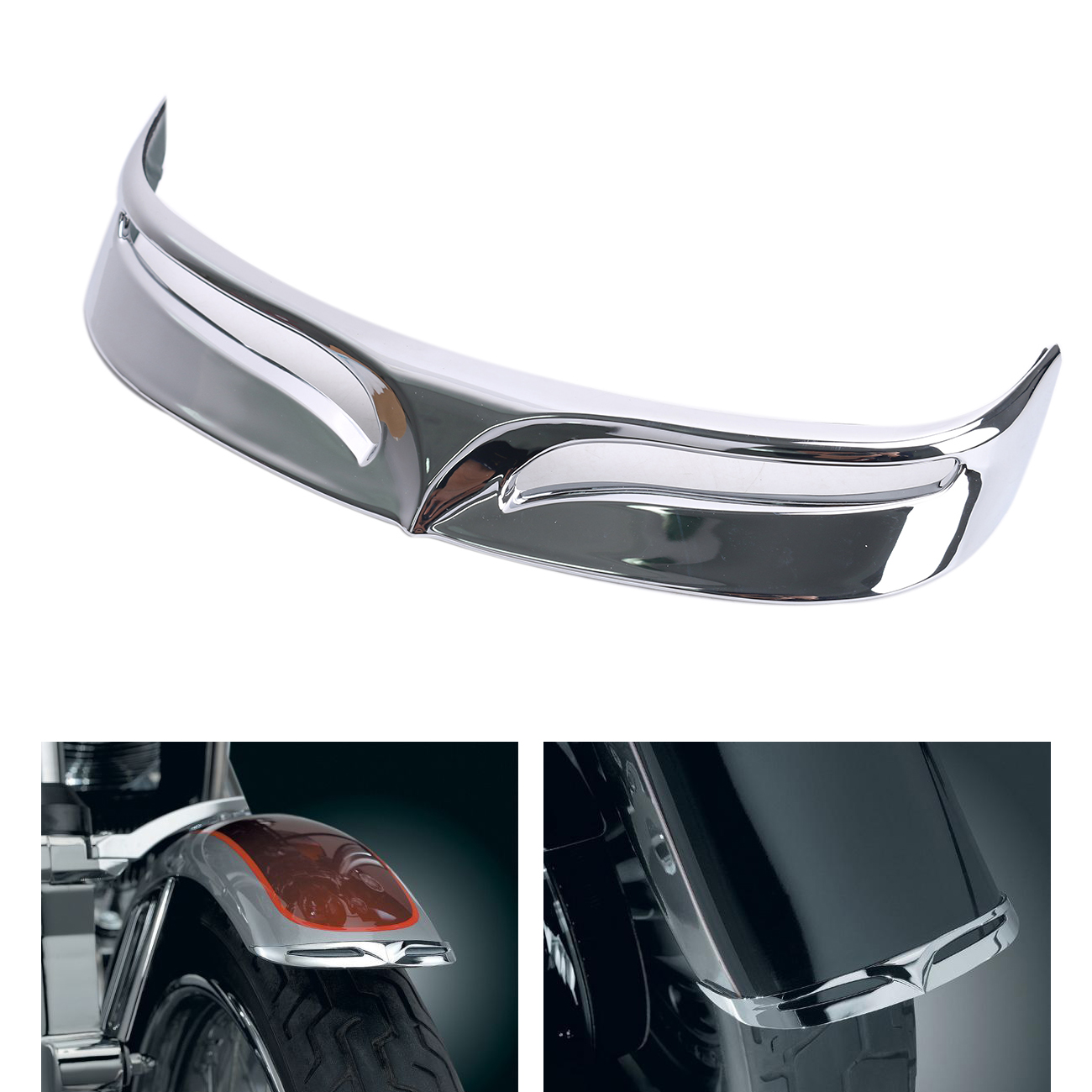 Motorcycle Chrome Fender Tips Trailing Edge Rear Wheel Tire Shell Cover For Harley Softail Fat Boy / Fatboy FLSTF FLSTFB #MBT236 motorcycle chrome fender tips trailing edge rear wheel tire shell cover for harley softail fat boy fatboy flstf flstfb mbt236
