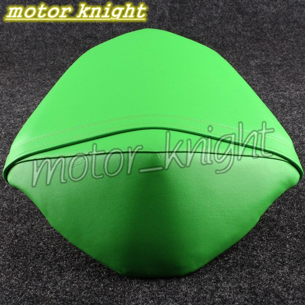 Leather Rear Passenger Seat Soft Cushion Fit KAWASAKI Z800 13-16 Green Pillion