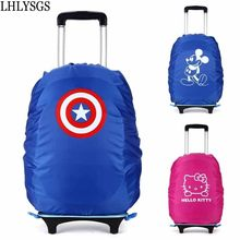 LHLYSGS Brand 27-35L Pupils Trolley School Bag Waterproof Rain Cover Fashion Backpack Dust Protective Covers Packing Organizer(China)