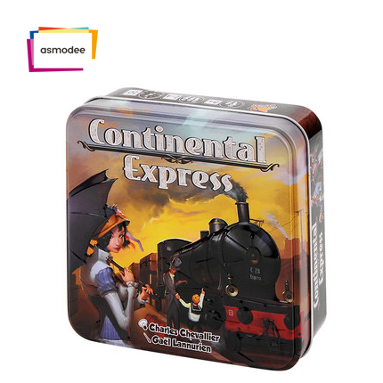 Intercontinental train ASMODEE entertainment family party children adult strategy card board game continental experss