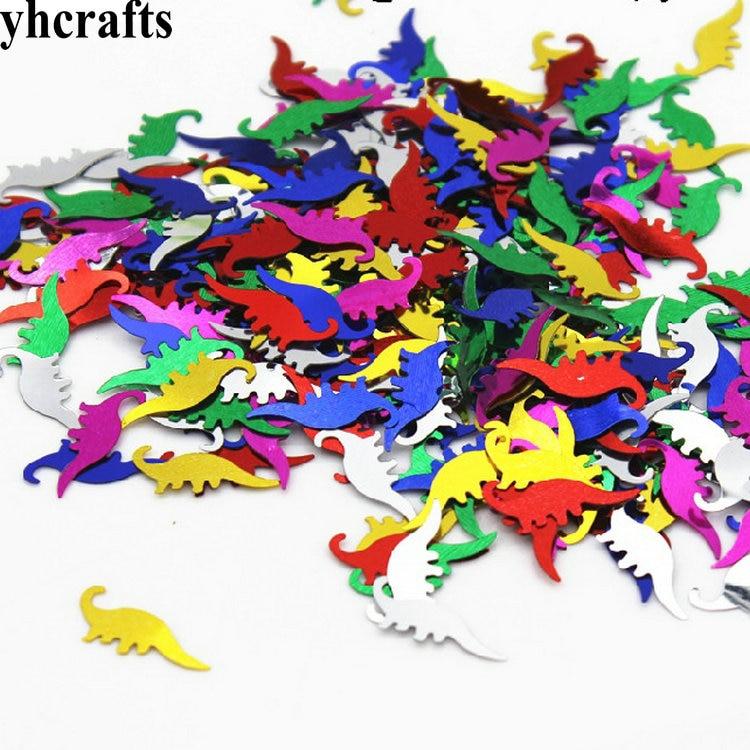 20gram/Lot 8x20mm Dinosaur Sequins.Craft Material Kindergarten Arts And Crafts Intelligence Creative Activity Item Kids Handy