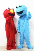 Red Elmo Blue Cookie Monster Mascot Costume Sesame Street Adult Mascot Costumes EPE Material Cartoon Imitation