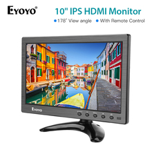 цена на Eyoyo 10 inch 1366x768 IPS HDMI TV Monitor Portable Kitchen TV IPS LCD Screen Display AV/USB Input for PC CCTV Camera Monitor