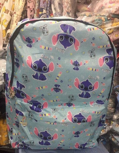 3fd41b34e5d6 US $14.39 20% OFF|Lilo&Stitch Aloha Canvas Backpack Zipper Printing  Backpacks For Teenage Girls School Bag Women Travel Bag 12