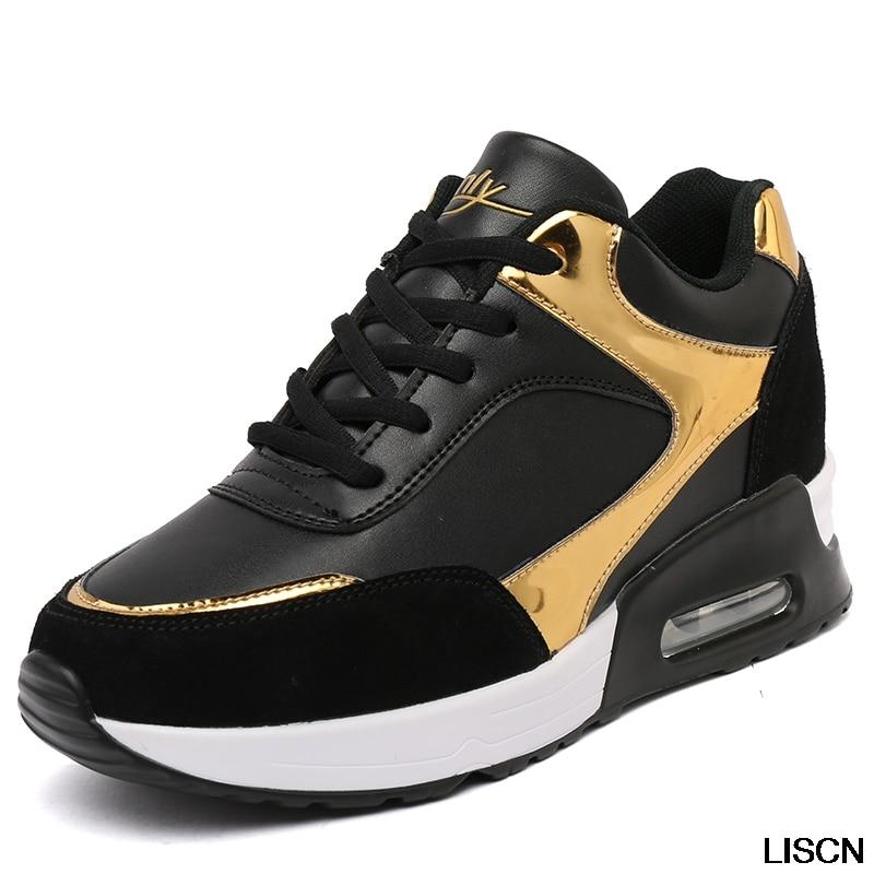 New Fashion Height Increasing Wedge Shoes Handmade Luxury Brand Tenis Feminino Sapato Women Casual Basket Femme Air Superstar