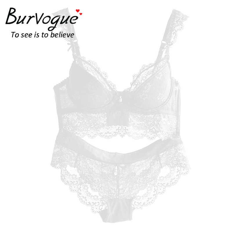 3691f1e8a1cd ... Burvogue новый кружевной комплект с бюстгальтером для женщин  сексуальный бюстгальтер пуш-ап бюстгальтеры Нижнее белье ...
