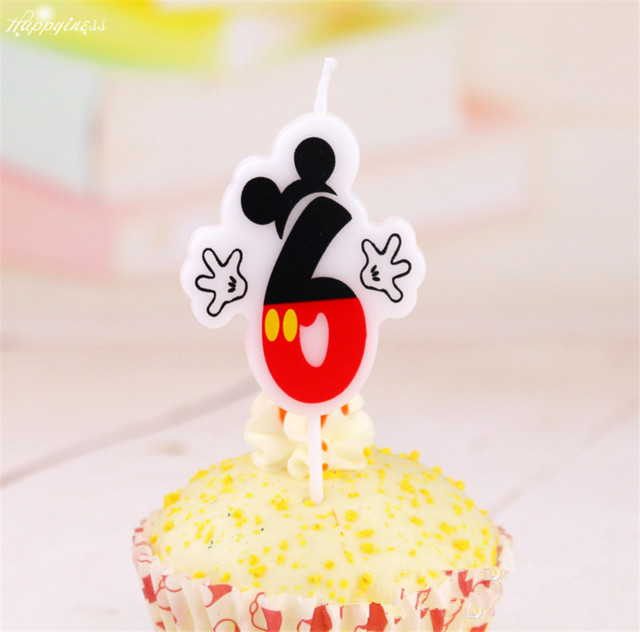 Lovely Mickey Mouse Birthday Cake Candle Party Supplies Candle