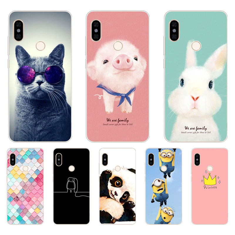 Nuovi Prodotti 9a09e f5995 US $1.34 10% OFF|Xiaomi redmi S2 Case,Silicon Painted animals Painting Soft  TPU Back Cover for Xiaomi redmi S2 protect Phone cases-in Fitted Cases ...