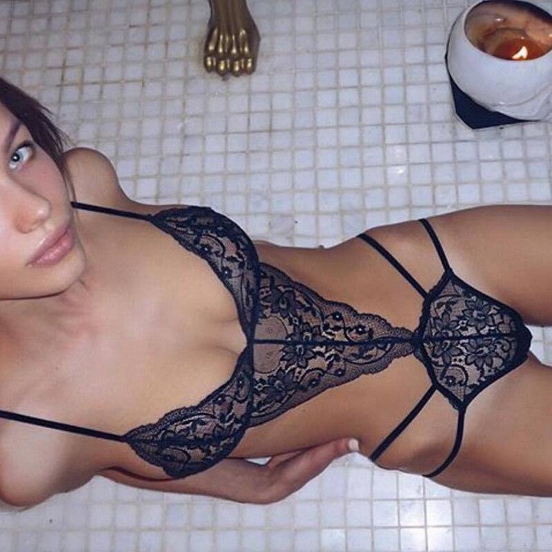 EAnvog 2019 New Sexy Women Bra Set Lace Deep V Erotic Underwear Lingerie Set Solid Color Bra Sets