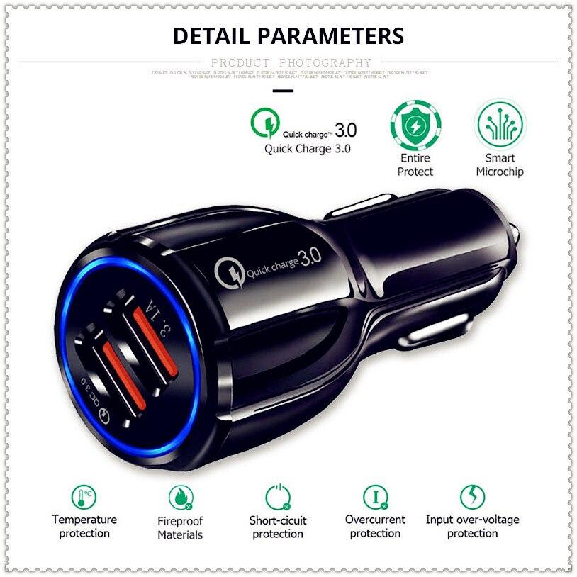 Schnell 3,0 Auto Ladegerät Buchse Adapter Dual USB Port für Chevrolet Cobalt Celta West Uplander Cavalier Astra