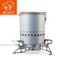 Bulin 1.5L Portable Outdoor Fast Heating Pot Utensil Camping Traveling Tableware With Gas Stove for Cooking Hiking Picnic Set