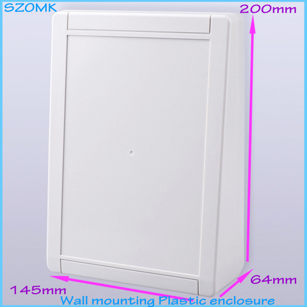 4 pcs/lot electrical panel box outdoor distribution box electronic circuit box plastic box enclosure electronic 200x145x64 mm white plastic cuboid 2 4 way power distribution box guard cover