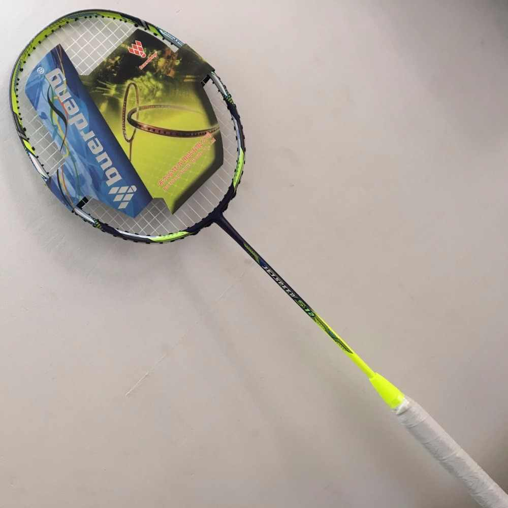 4U Men single badminton racket Jetspeed s12 badminton racket prestrung carbon badminton raquette with badminton grip jetspeed