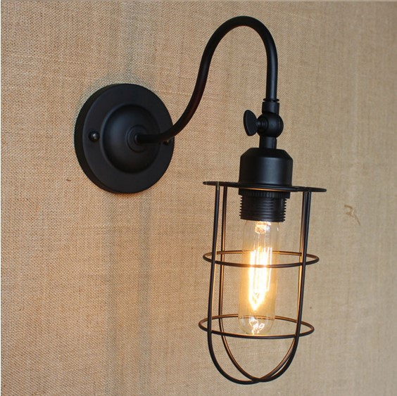 Edison Wall Sconce Black Vintage Wall Lights For Home In ...