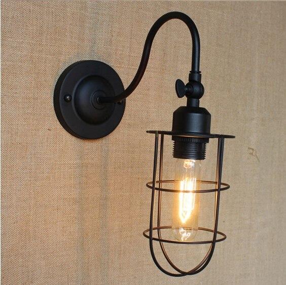 Edison applique murale noir vintage appliques murales pour la maison de style loft lampe murale industrielle arandelas luz de parede dans mur lampes de