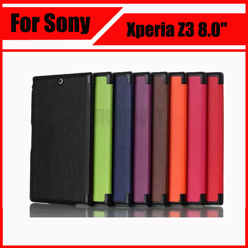 Magnetic Stand pu leather Case For Sony Xperia Z3 Compact tablet case Wake Up/Sleep Function cover cases + Screen Protectors magnetic stand pu leather case for sony xperia z3 compact tablet case wake up sleep function cover cases screen protectors