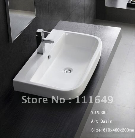 Merveilleux 7538 Bathroom Ceramic Counter Top Wash Hand Wash Bowl Sink Basin Lavatory  Lavabo