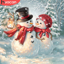 HUACAN 5d Diamond Painting Full Drill Square Santa Claus Embroidery Rhinestone Picture Mosaic Christmas Decoration