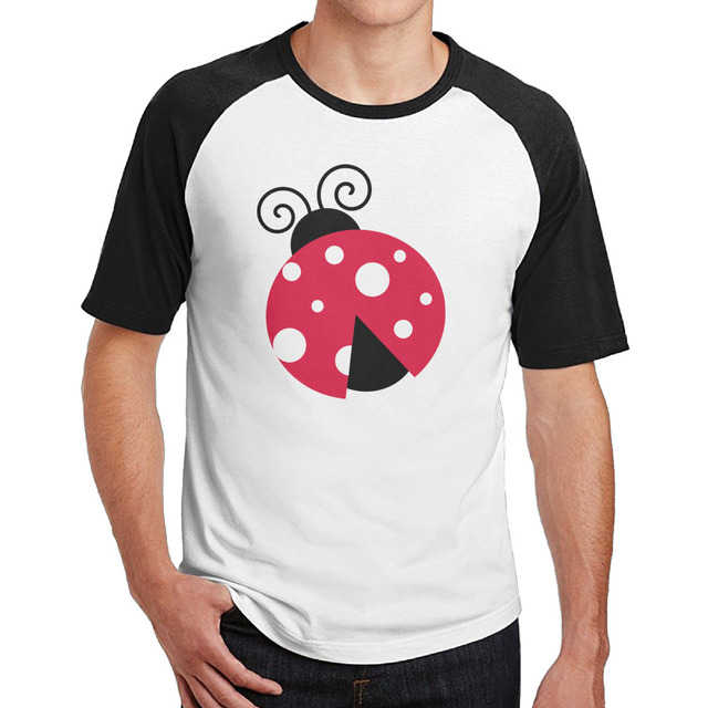 US $123Pink LadyBug With White Dots Clip Art Mens Cotton Tee Shirt  2017-in T-Shirts from Men\u0027s Clothing on Aliexpress Alibaba Group