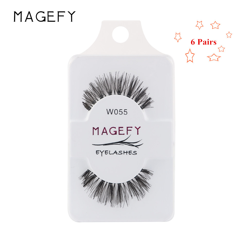 MAGEFY 6/Pairs Professional Makeup Fake Cilios Mink Eye Lashes Extension Handmade Natural Long Synthetic Hair Full Strip Lashes