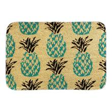 Blue Pineapple Doormat Indoor Outdoor Cute Fruit Decor Door Mats For Living Room Bedroom Soft Short Plush Fabric Floor Home Mat