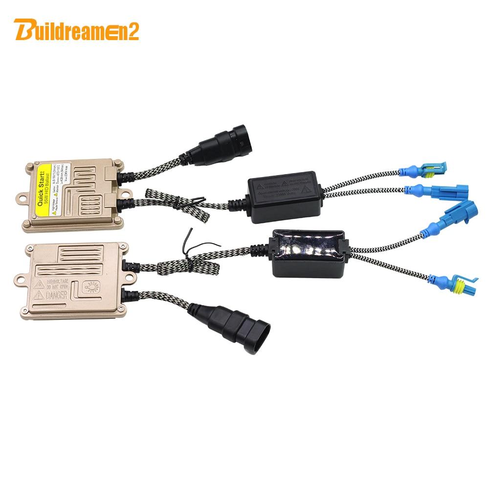 Buildreamen2 AC HID Xenon Ballast 55W 12V Silm Digital Block Ignition Ballast For Car Xenon Bulb H1 H3 H4 H7 9005 9006 9007 H13