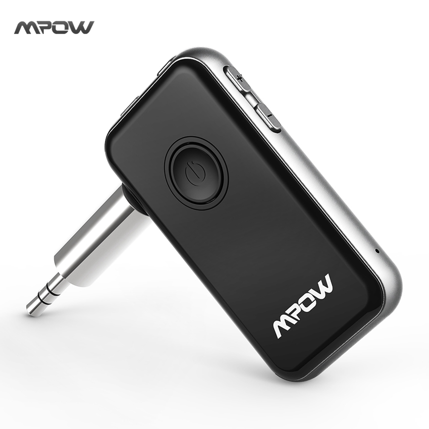 Mpow 2-in-1 Bluetooth 4.1 Transmitter + Receiver Mini Wireless Audio Music Adapter w/ 3.5mm Aux for Headphone Speaker TV PC MP3 b9 2 in 1 wireless bluetooth transmitter receiver for tv car stereo