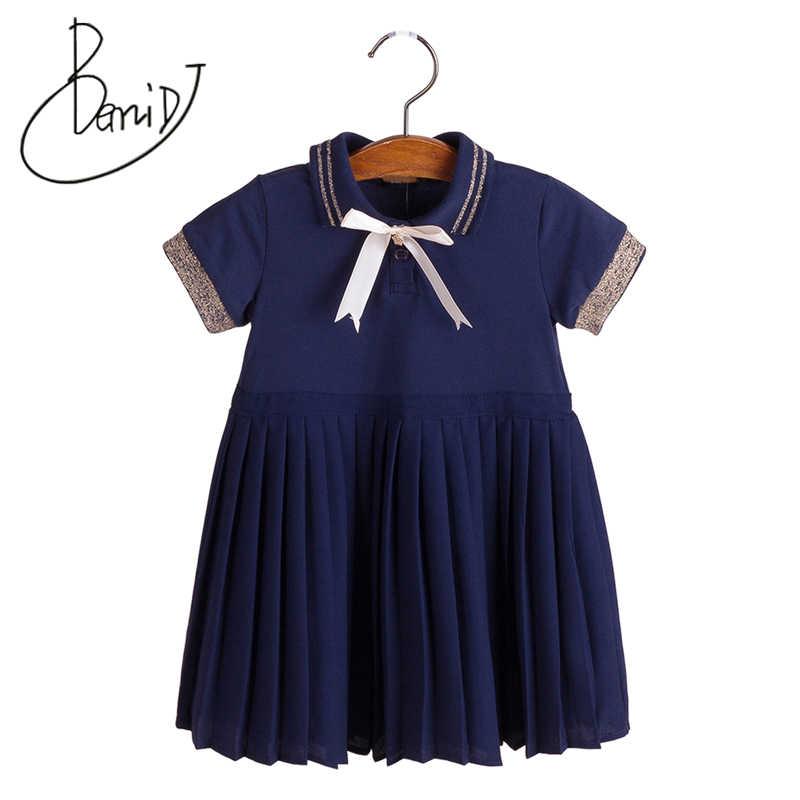 Vestido De La Muchacha Del Bebé 2019 Nueva Ropa De Otoño Marca Bebé Niñas Vestidos Ropa De Los Niños De Inglaterra Estilo Algodón Vestidos