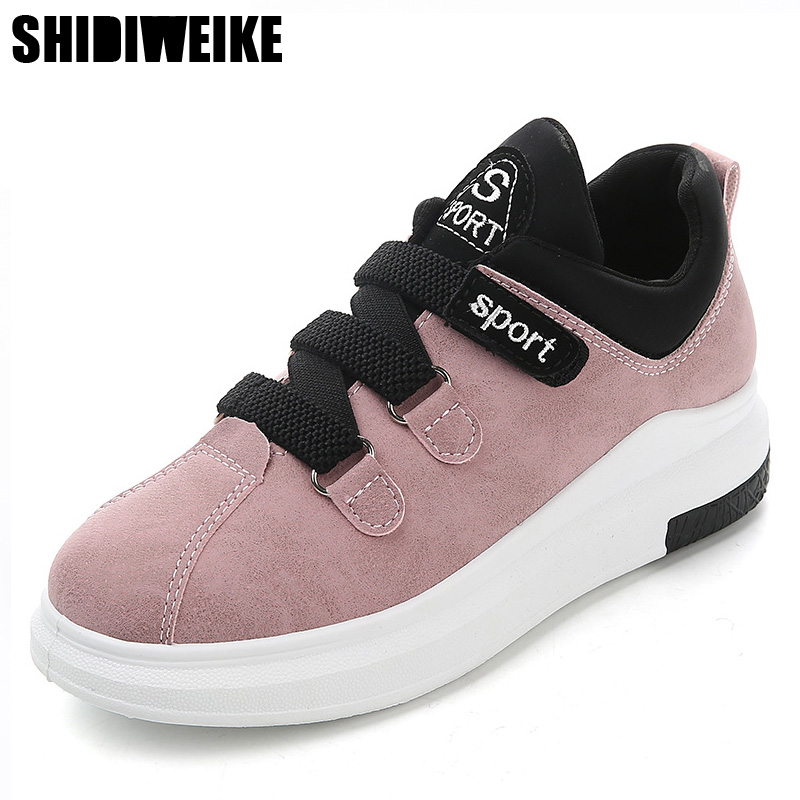 2018 Women Flat Shoes Breathable Ladies Leather Shoes Spring Creepers Casual Slip on Shoes woman Causal Shoes Slipony Women H039