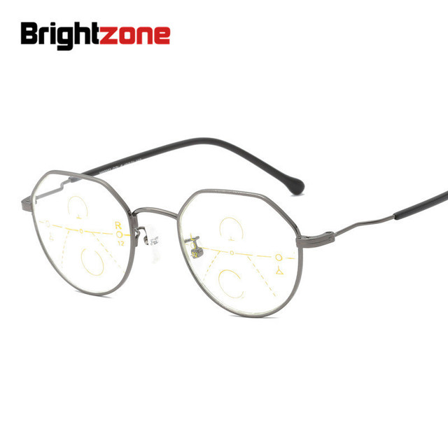 Brightzone New Arrivals Far-Near Presbyopic Progressive No-line Bifocal Eyeglasses Reading Glasses Intelligent Oculos Gafas