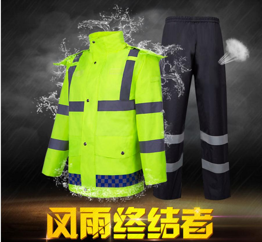 New traffic safety warning raincoats, uniforms, building Construction suit.