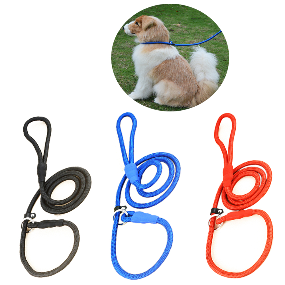 High Quality Nylon Adjustable Training Lead Pet Dog Leash Dog Strap Rope  Traction Dog Harness Collar 9acfba5e6db5