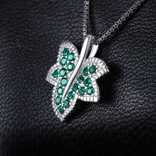 Maple Leaf Emerald Pendant
