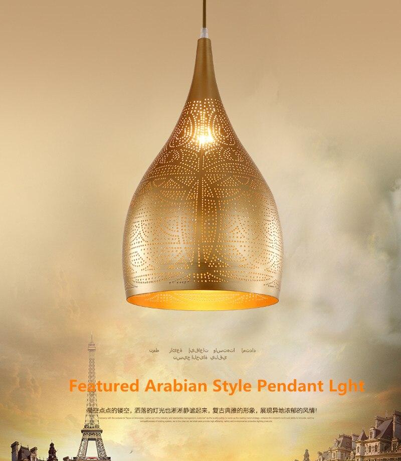 Arabian Style Pendan Light Modern Led Pendan Lamp Iron Hang Lamp For Restaurant Dining Room Bar Indoor Lighting