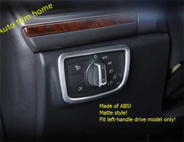 For Audi A6 C7 A7 2017 Front Head Light Lamp Headlight Switch On Molding Garnish Cover Trim 1 Piece
