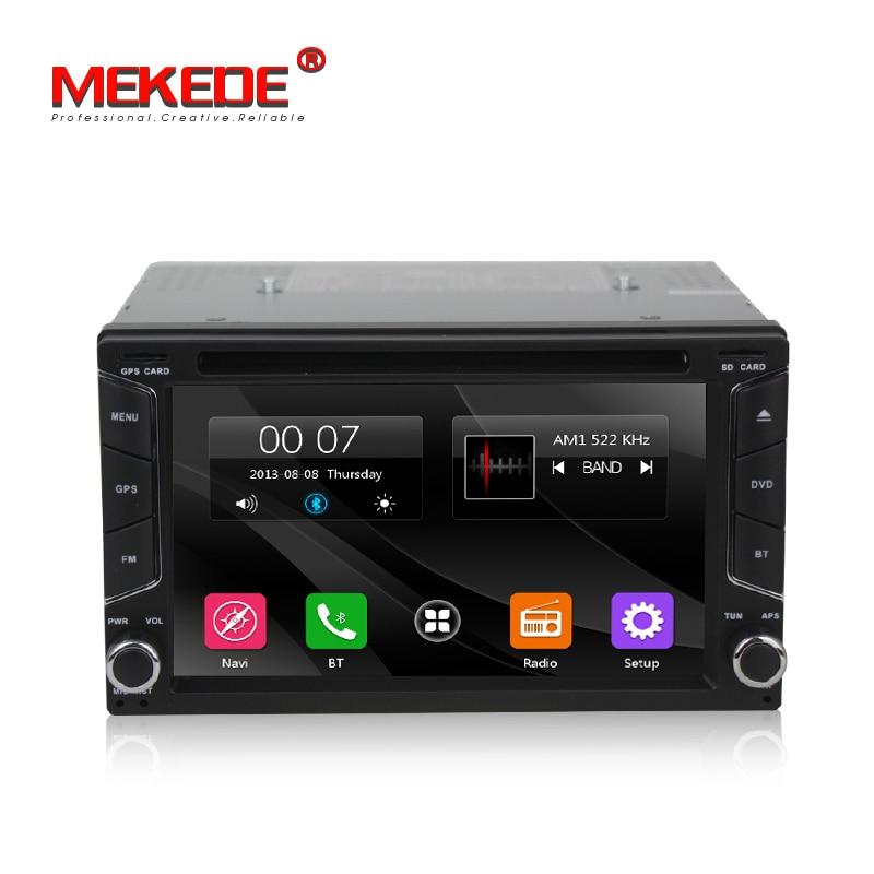 Free ship MEKEDE universal Car GPS DVD player Car multimedia Navigation GPS Player for Nissan Toyota