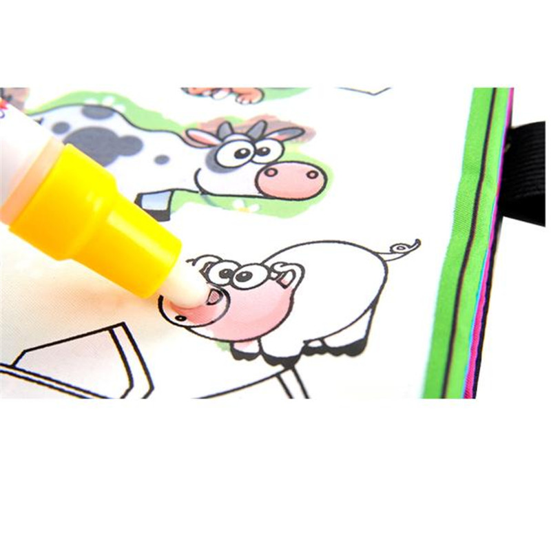 Aliexpress Buy YIQU Magic Water Drawing Book Coloring Notebook Doodle Pen Animals Painting Toy Gift For Baby From Reliable