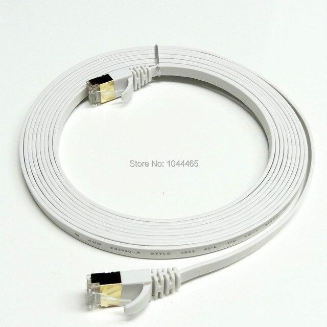 100ชิ้น/ล็อต6FT 2เมตรCAT7 RJ45 P Atch Ethernet LANเครือข่ายเคเบิ้ลสำหรับสวิทช์R Outerชุบทอง