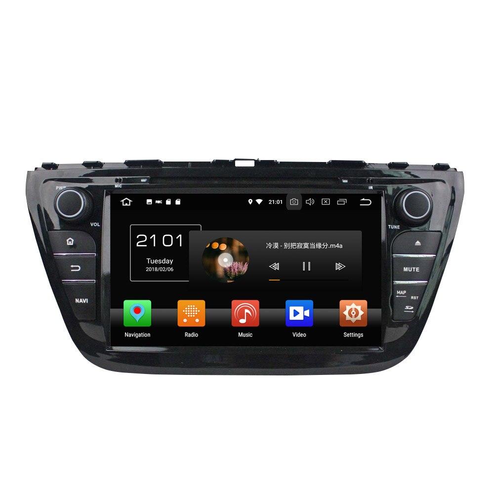 KLYDE 8 2 Din Android 8.0 Voiture Lecteur Multimédia 8 Core Pour Suzuki SX4 S Cross 2014 Voiture Radio De Voiture Stéréo Audio DVD lecteur