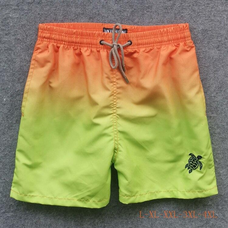 Summer Hot Swim Board Beach Sport Stretch Shorts Causal pants for Men Male Brand Sea Turtle Short de Bain Homme Fast Dry
