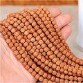 Natural Tibetan Buddha Prayer Rudraksha 108 Mala Beads Loose Religion Charm Spacer Yoga Bead Bracelet Necklace Accessories F5058