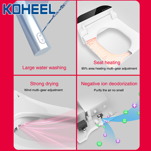 Image 3 - KOHEEL square intelligent toilet seat cover electronic bidet toilet bowls seat heating clean dry smart toilet lid for bathroom